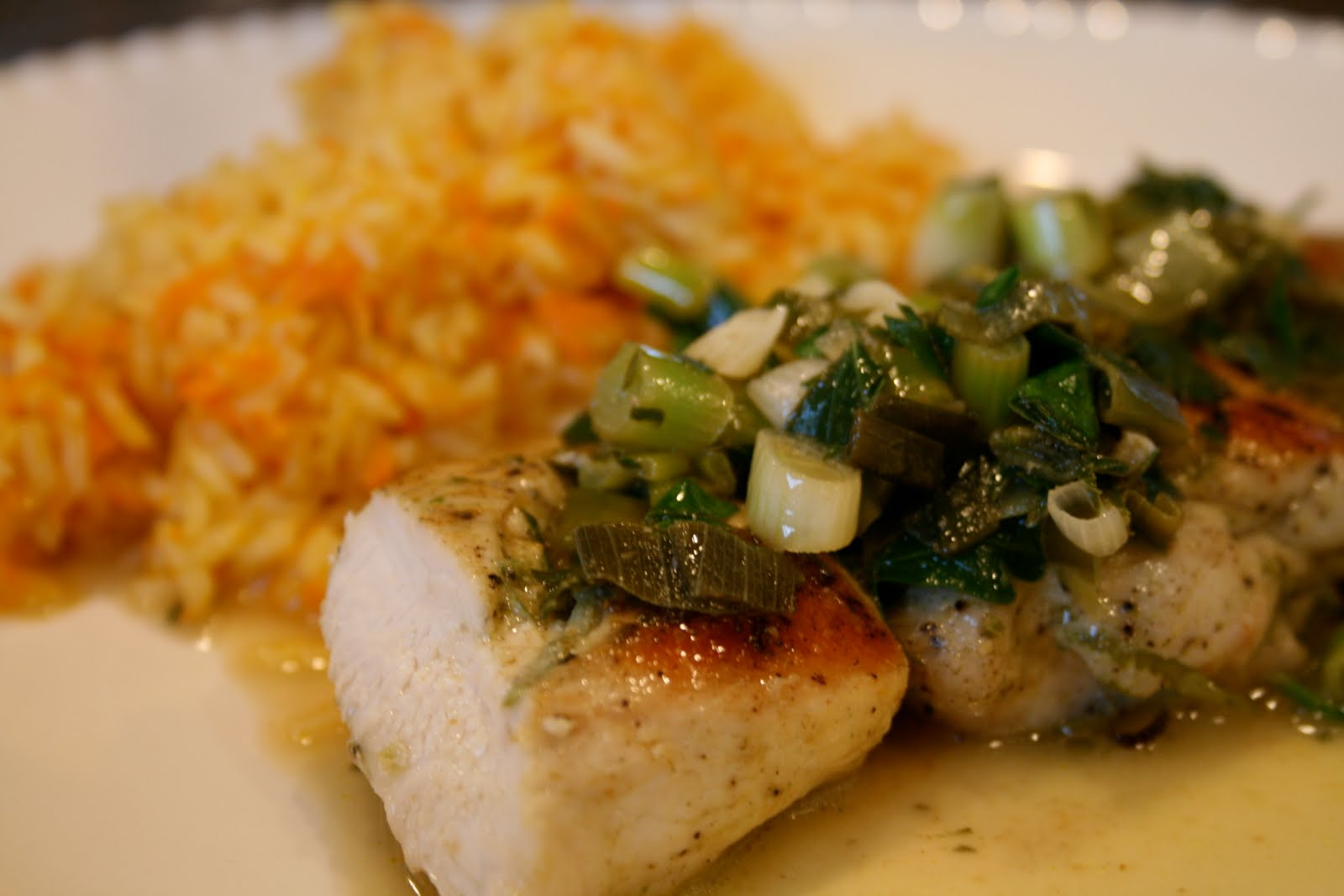 Chicken with Scallion Lime Sauce~NEW!