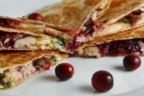 Cranberry Chicken Quesadillas