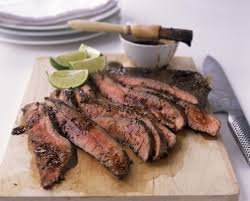 Flank Steak with Lime-Chipotle Sauce