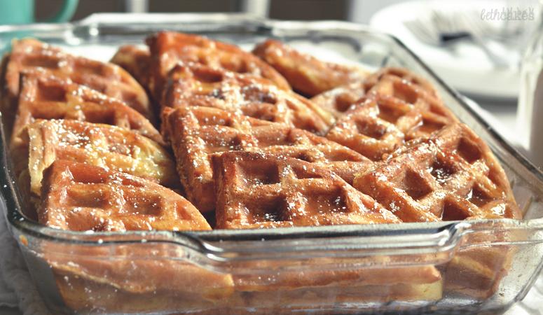 Maple Pecan Waffle Bake