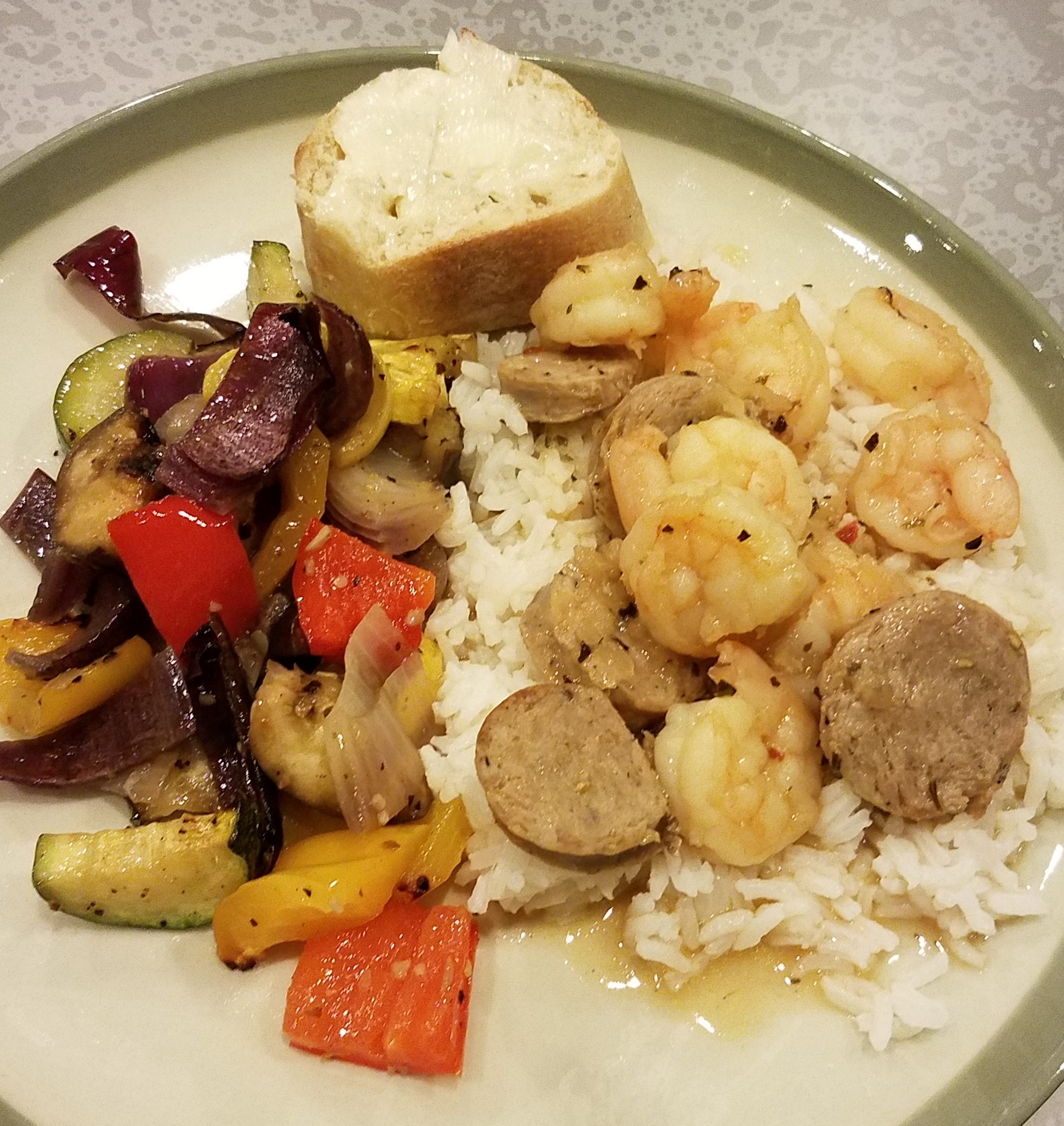 New Orleans Style Shrimp & Sausage with Rice