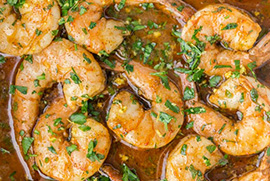 Cajun Baked Shrimp with Linguine
