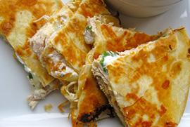 Creamy Jalepeno Chicken Quesadillas