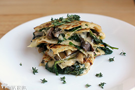 Portabella & Spinach Quesadillas