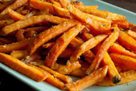 Sweet Potato Fries with Honey Butter