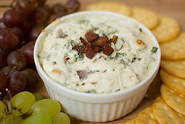 Warm Blue Cheese & Bacon Dip