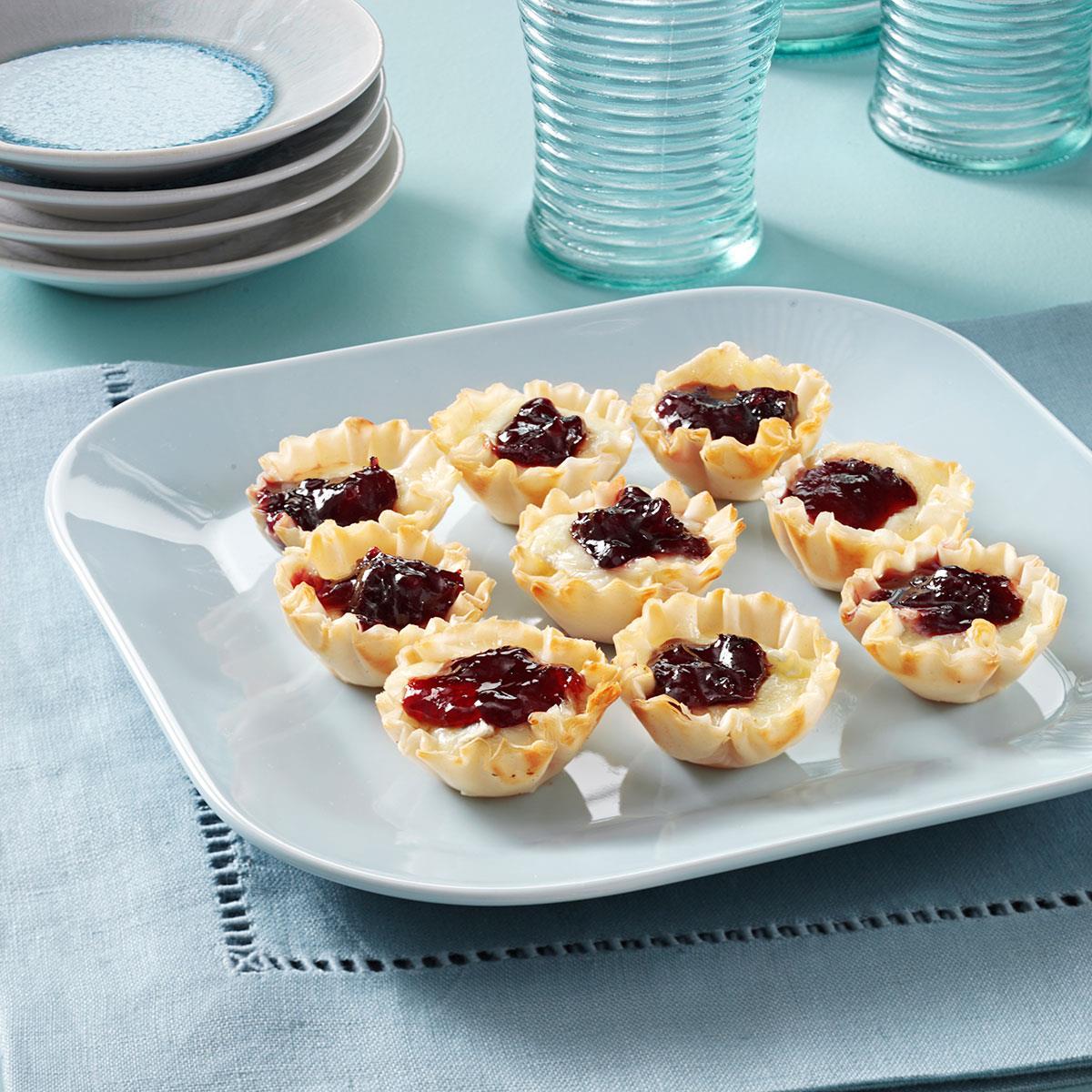 Raspberry & Brie Filo Cups