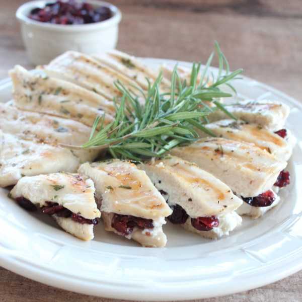 Cranberry Goat Cheese Stuffed Chicken Breasts