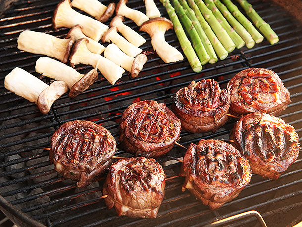 Grilled Steak Spirals