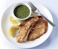 Grilled Tilapia/Pollock with Basil-Lime Pistou
